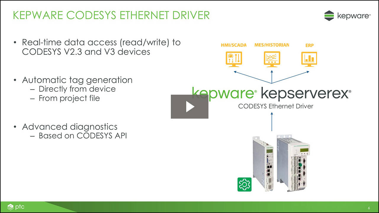 Connecting to PacDrive 3 Devices using Kepware's CODESYS Ethernet Driver Webinar