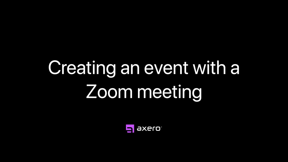 Creating an event with a Zoom meeting