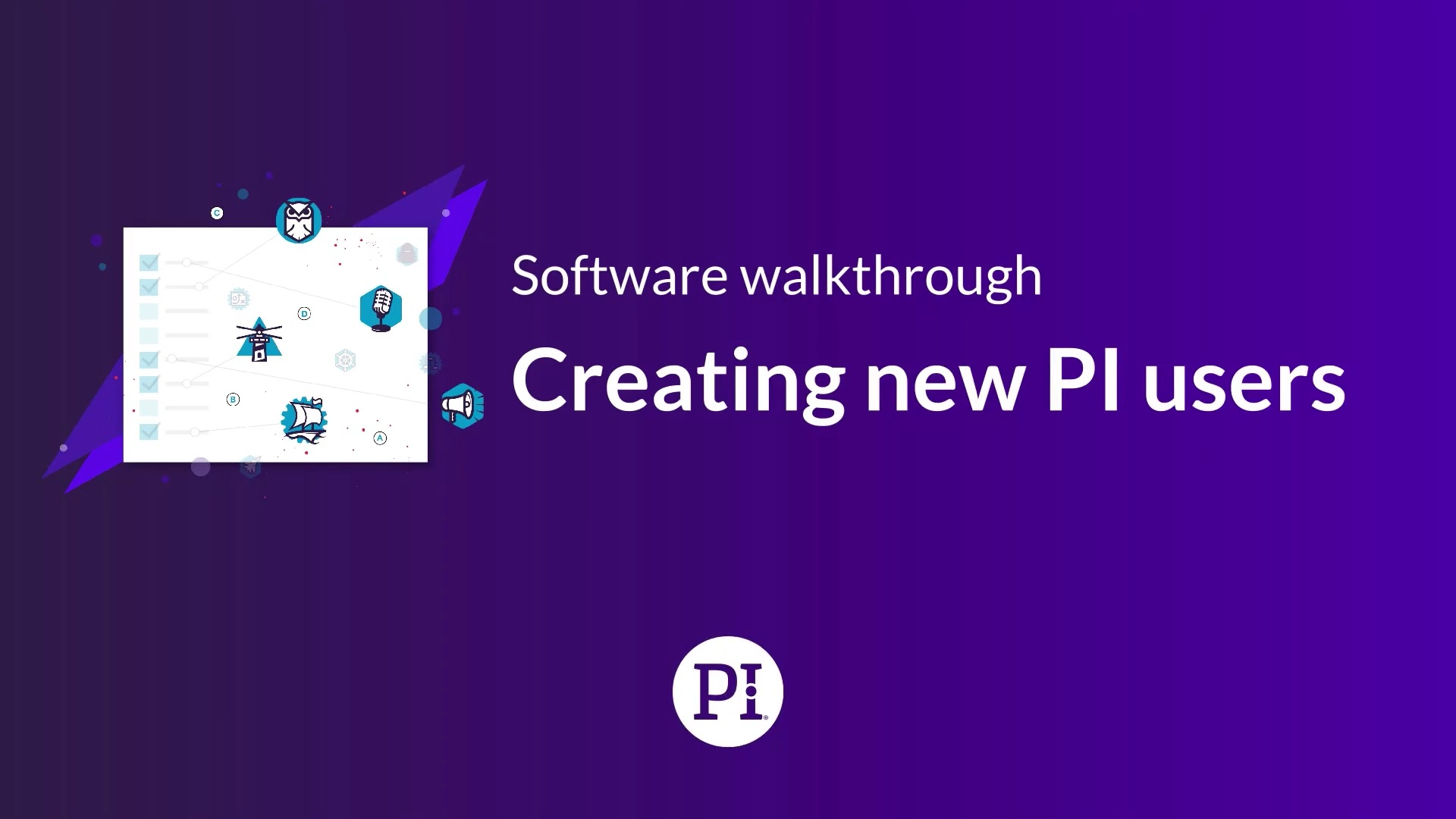 Creating PI Software Users