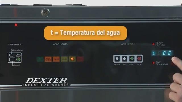 Programación de Ciclo de lavadora OPL Serie WCVD de Dexter