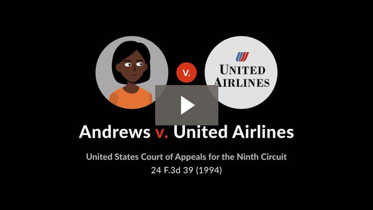 Andrews v. United Airlines