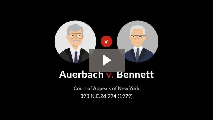 Auerbach v. Bennett