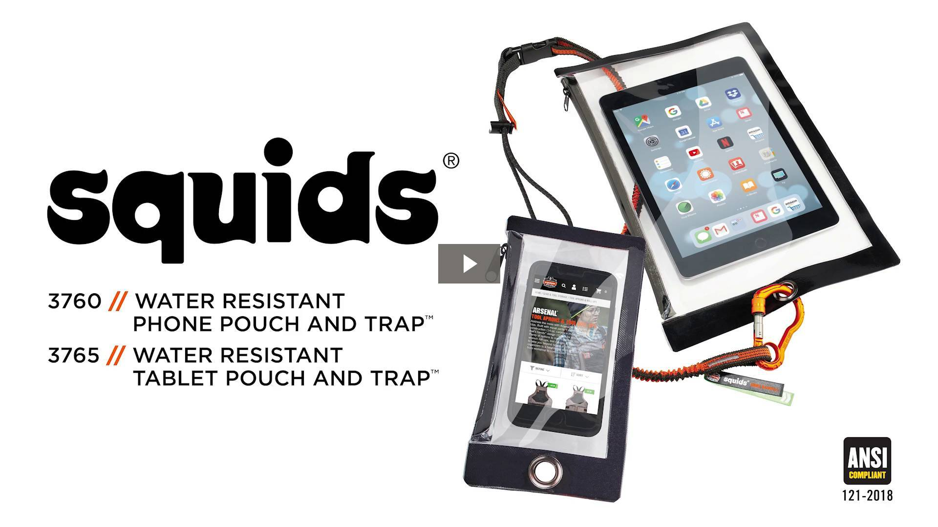 Ergodyne Product Video - Squids<sup>®</sup> 3765 Water Resistant Tablet Pouch & Trap