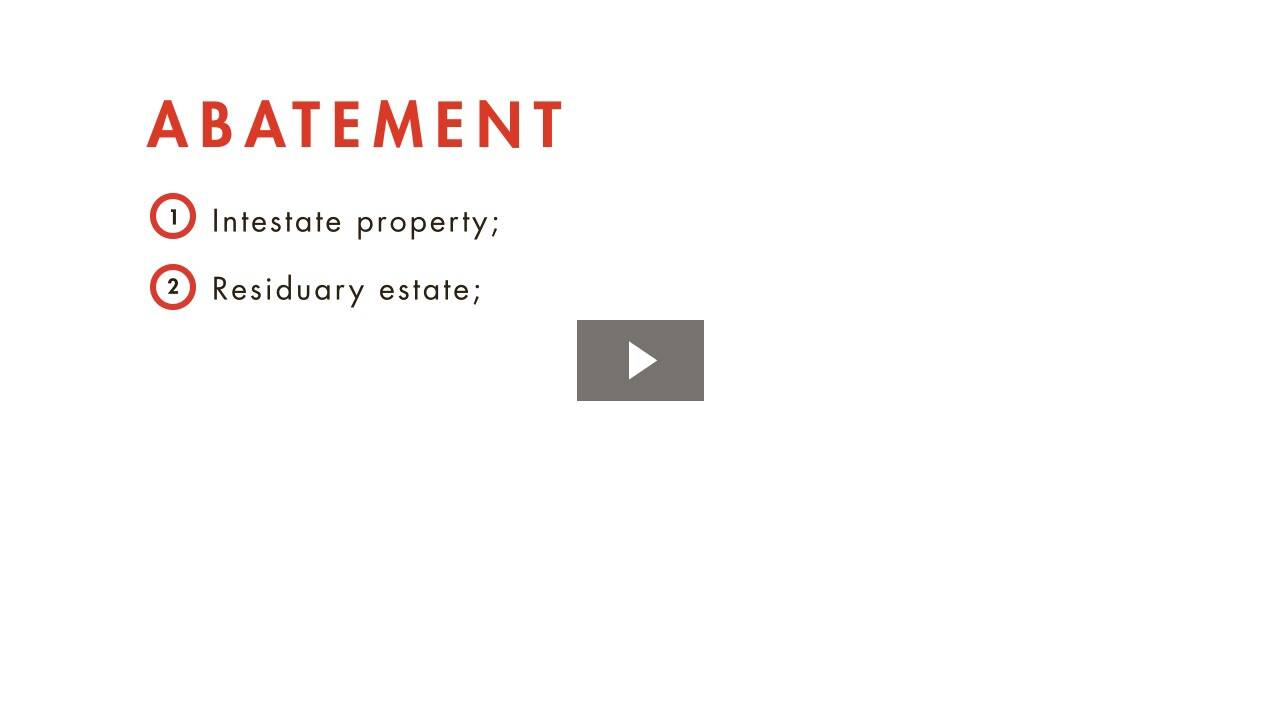Property Disposition
