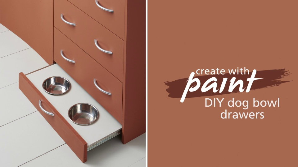 DIY pet dish drawer