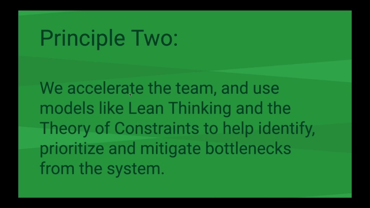 Principle Two: Accelerating the Team