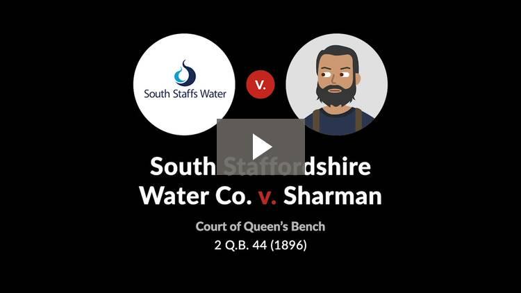 South Staffordshire Water Co. v. Sharman