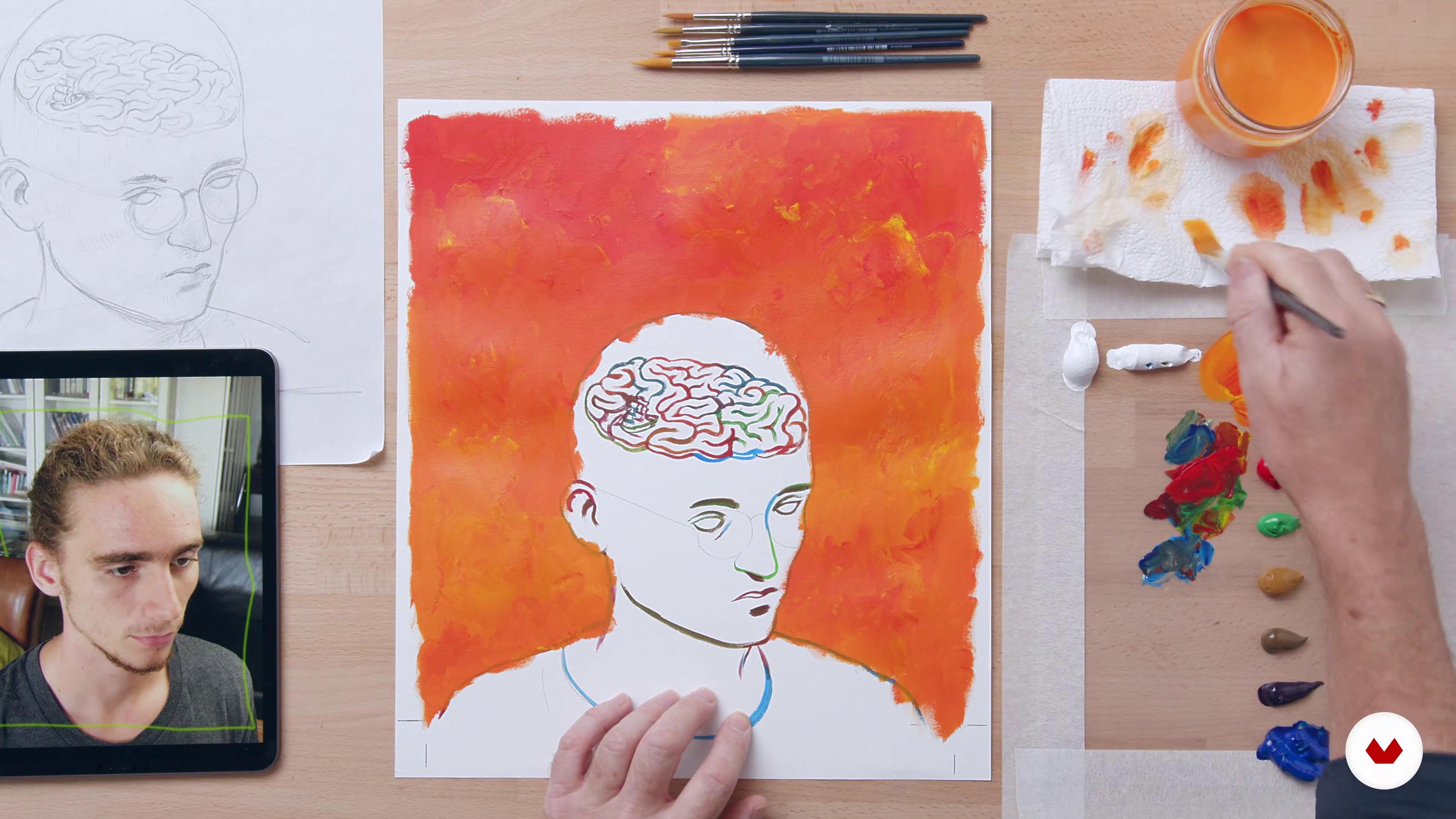 Painting The Background Acrylic Techniques For Creative Illustration Jon 24 Domestika