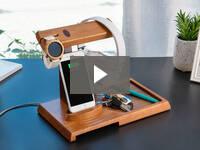 Video for Wooden Valet Charging Station