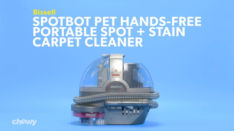 Bissell Spotbot Pet Hands Free Portable Spot Stain Carpet Cleaner