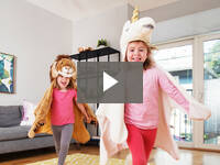 Video for Plush Hooded Animal Cape