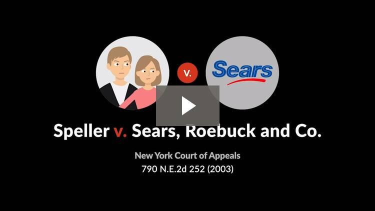Speller v. Sears, Roebuck and Co.