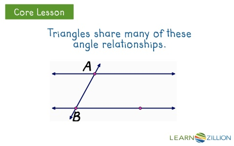 lesson 22 understand angle relationships in triangles ready common core. Black Bedroom Furniture Sets. Home Design Ideas