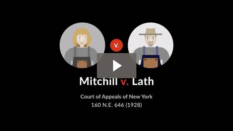Mitchill v. Lath