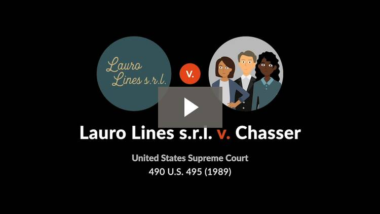 Lauro Lines s.r.l. v. Chasser