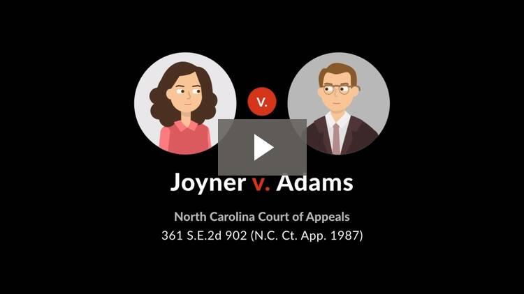 Joyner v. Adams