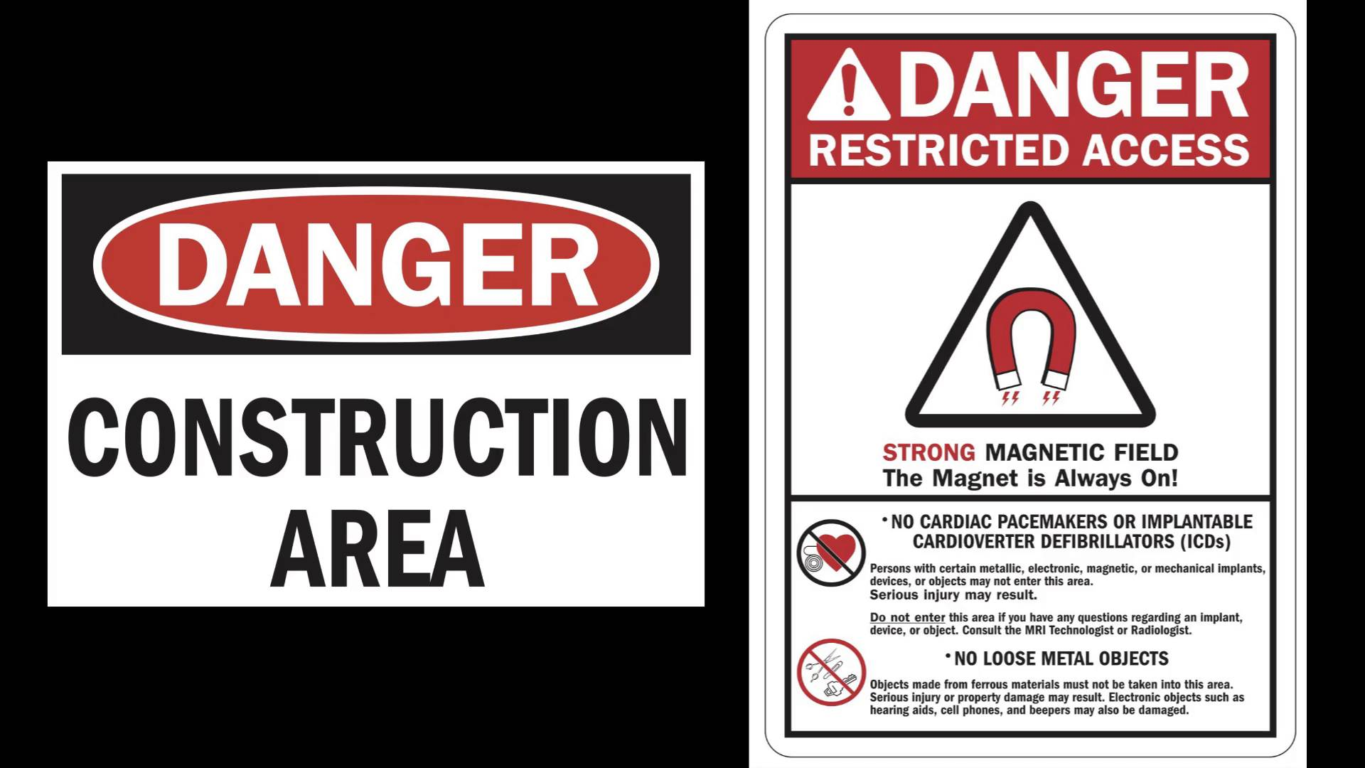 MAGNET Public Signs CAUTION RESTRICTED AREA Photo Magnet