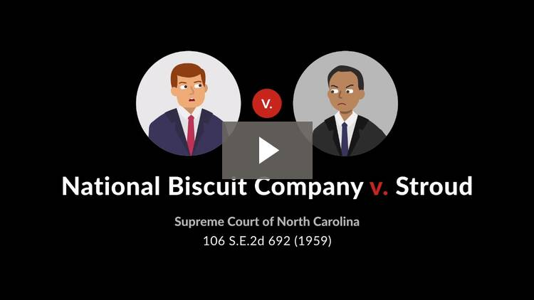 National Biscuit Company v. Stroud