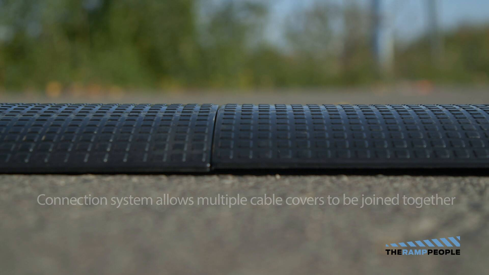 30mmx10mm 3m x Heavy Duty Rubber Floor Cable Protector Strip