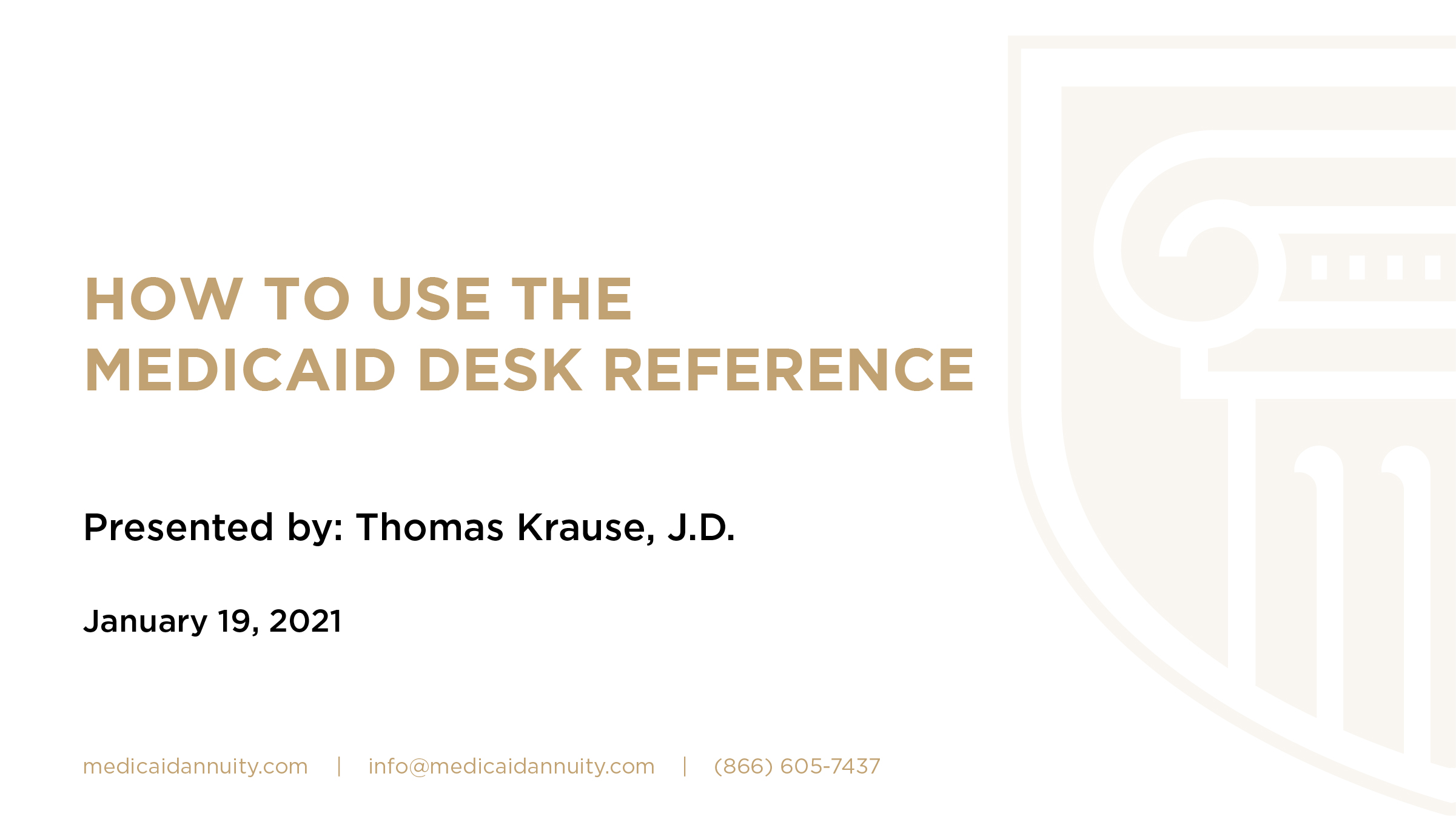 How to Use the 2021 Desk Reference