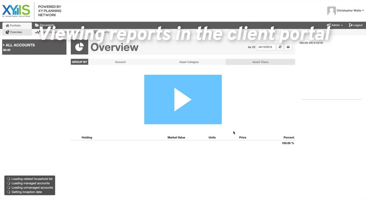 Viewing reports in the client portal
