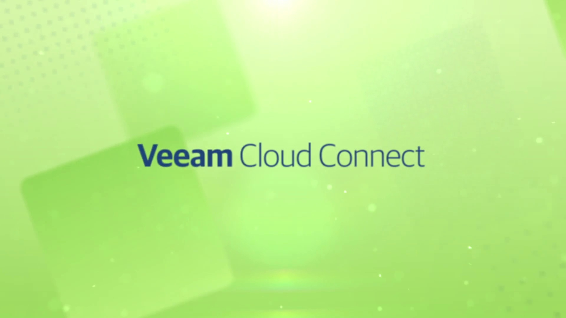 Product launch v11 - Veeam Cloud Connect