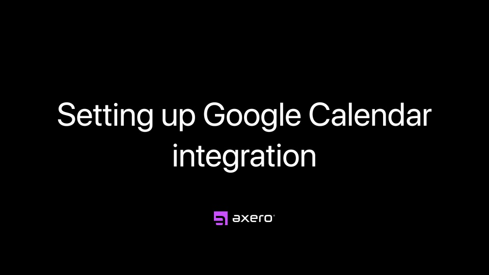Setting up Google Calendar integration