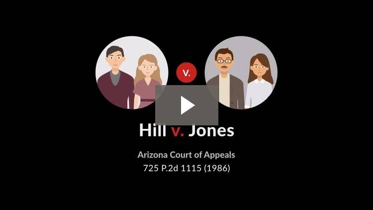 Hill v. Jones