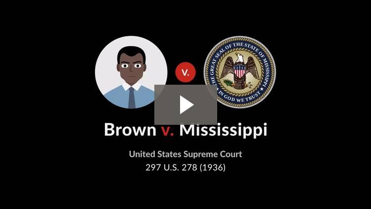 Brown v. Mississippi