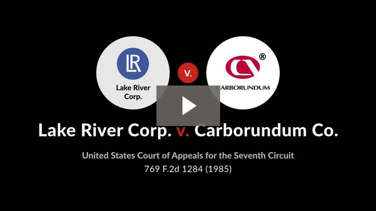 Lake River Corp. v. Carborundum Co.