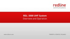 RDL-3000 UHF System Overview and Operation