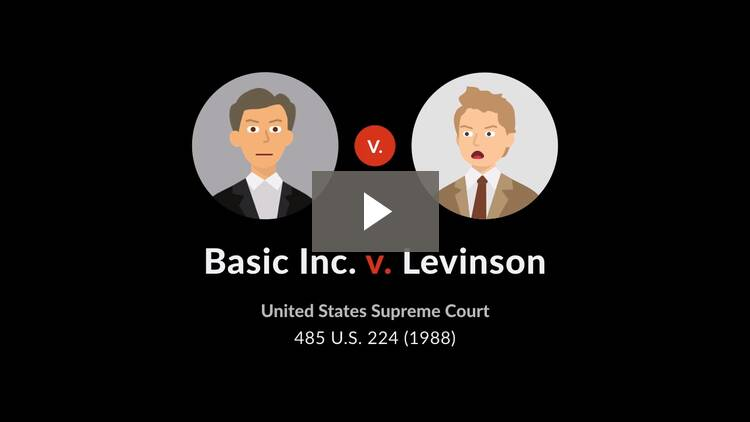 Basic Inc. v. Levinson
