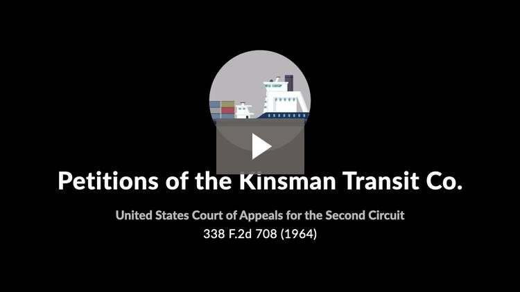 Petitions of the Kinsman Transit Co.
