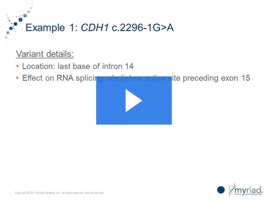 Variant Classification - Splicing Analysis Webinar