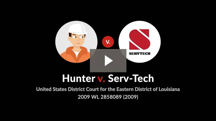 Hunter v. Serv-Tech, Inc.