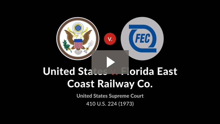 United States v. Florida East Coast Railway Co.
