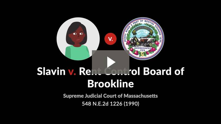 Slavin v. Rent Control Board of Brookline