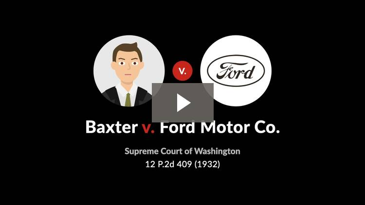 Baxter v. Ford Motor Co.