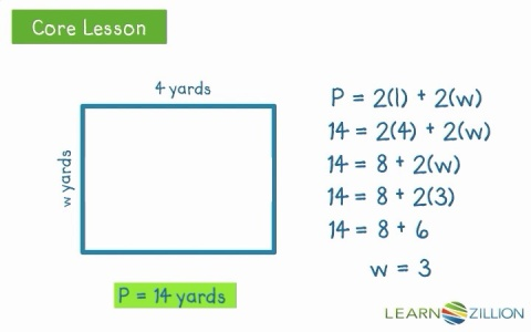 perimeter formula for rectangle within rectangle find missing side lengths using the formula for perimeter