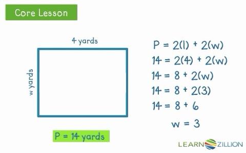 Find missing side lengths using the formula for perimeter find missing side lengths using the formula for perimeter learnzillion ccuart Gallery