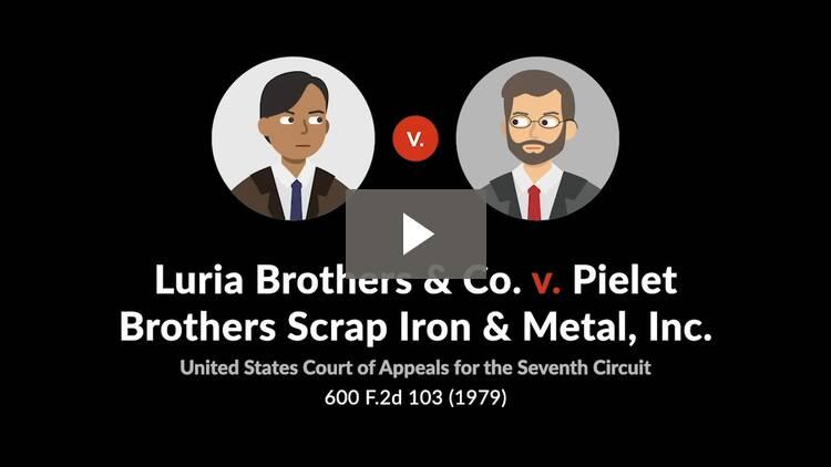 Luria Bros. & Co. v. Pielet Bros. Scrap Iron
