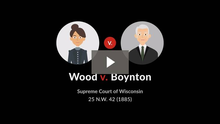 Wood v. Boynton