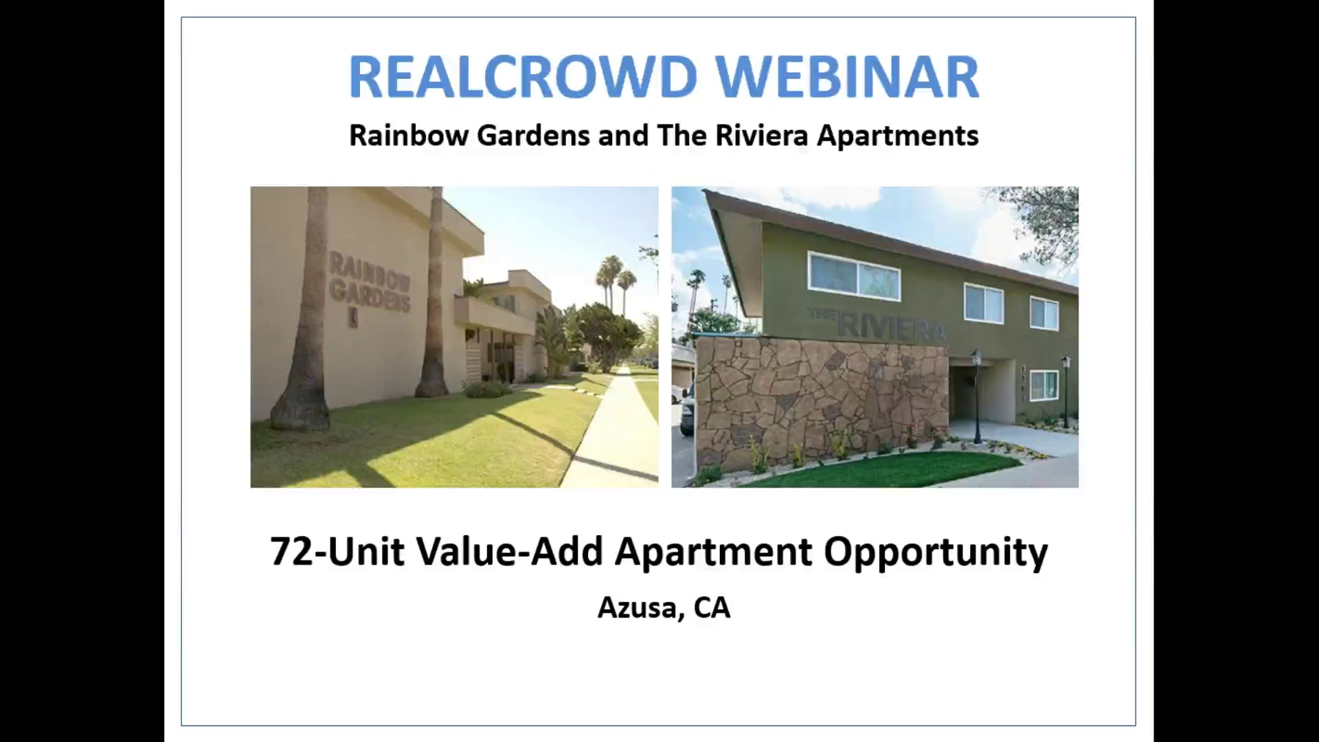 Investment Video - The Riviera and Rainbow Gardens Apartments