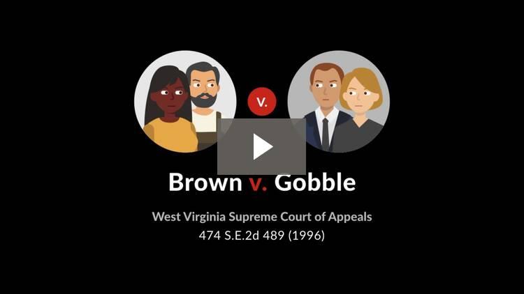 Brown v. Gobble