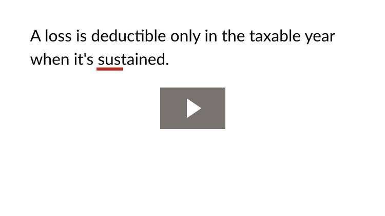 Deductions for Specified Losses