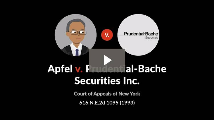 Apfel v. Prudential-Bache Securities, Inc.
