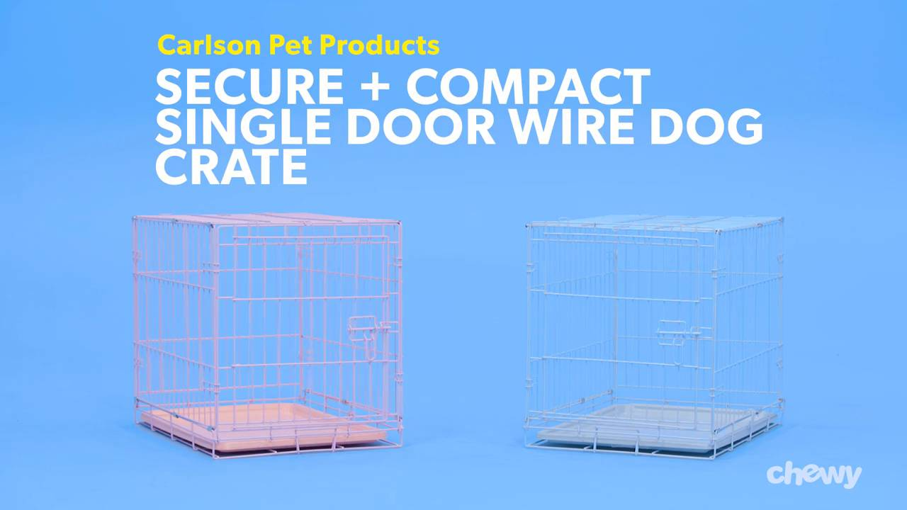 Small Carlson Blue Secure and Compact Single Door Metal Dog Crate