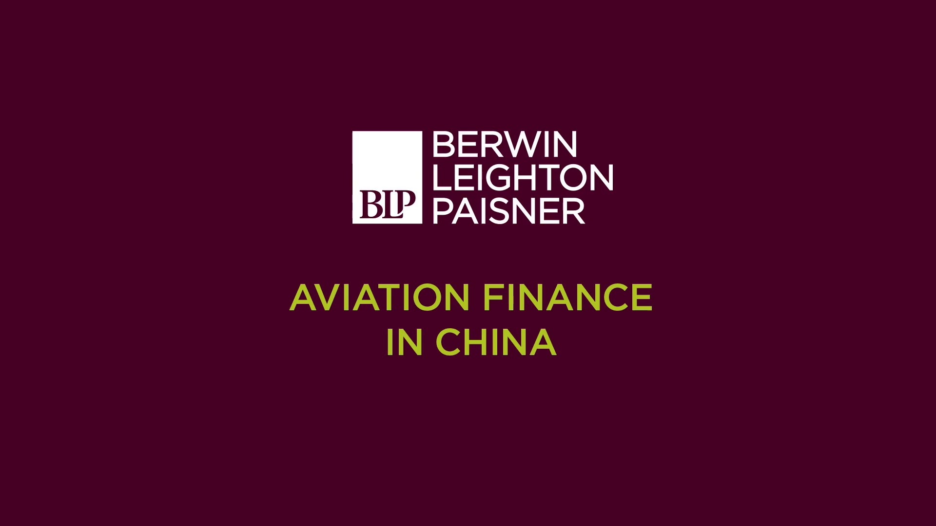 Still image from 'An update on aviation finance in China' video