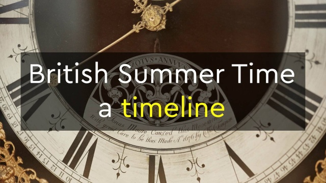Fall Back Spring Forward 2020.British Summer Time A Timeline
