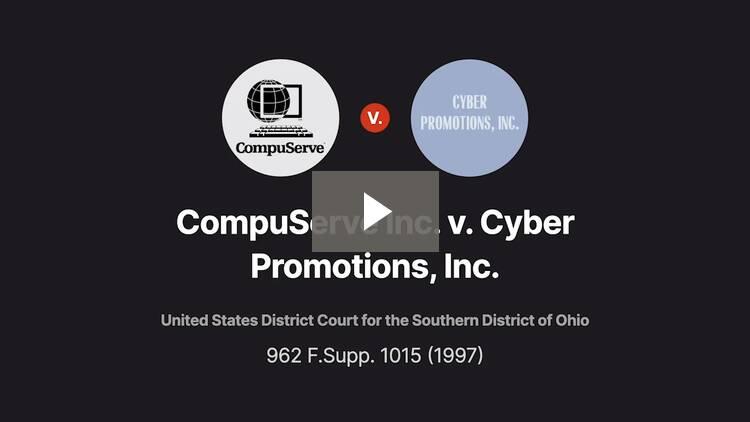 CompuServe Inc. v. Cyber Promotions, Inc.